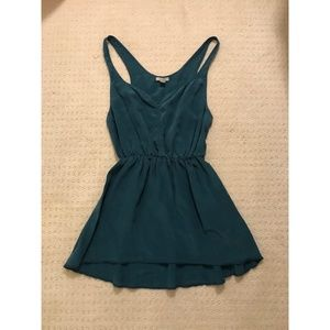 2 for $15 / 100% Silk UO Teal Cami Top